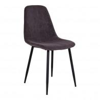 Jídelní židle STOCKHOLM tmavě šedý manšestr, černá podnož