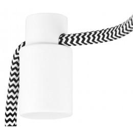 Držák kabelu pro svítidla, černý kov
