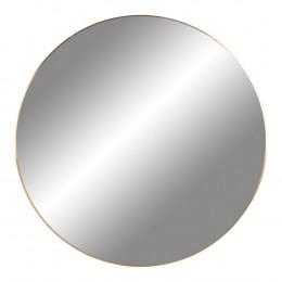 Nástěnné zrcadlo JERSEY mosaz,Ø80 cm