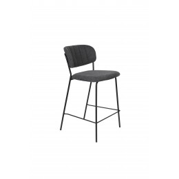 Barová židle s područkami JOLIEN ZUIVER tmavě šedá/nohy černé
