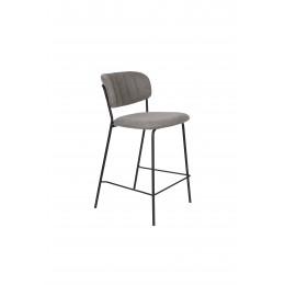 Barová židle s područkami JOLIEN ZUIVER šedá/nohy černé