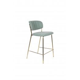 Barová židle s područkami JOLIEN ZUIVER světle zelená/nohy zlaté