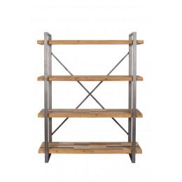 Dřevěná police JOY ZUIVER 120x149cm,hnědý