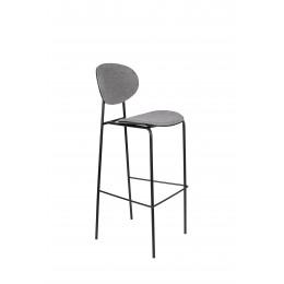 Barová židle DONNY ZUIVER 107 cm,šedá