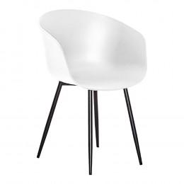 Jídelní židle RODA HOUSE NORDIC,plast bílá