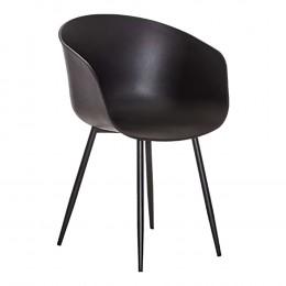 Jídelní židle RODA HOUSE NORDIC,plast černá