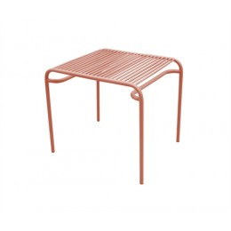 Zahradní coffee stolek LINEATE, cihlový