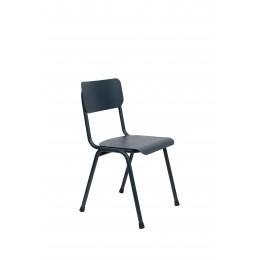 Zahradní židle BACK TO SCHOOL ZUIVER,kov šedomodrý