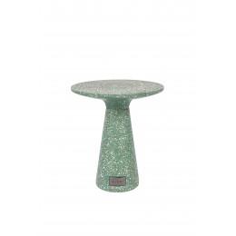 Odkládací stolek VICTORIA ZUIVER Ø41cm,terrazzo zelený