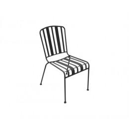 Zahradní židle LINES, černá