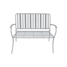 Zahradní lavice LINES, šedá