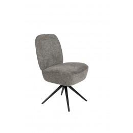 Židle čalouněná DUSK ZUIVER otočná,světle šedá FR