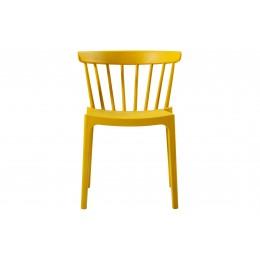 Zahradní židle BLISS WOOOD,plast okrová žlutá