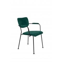 Jídelní židle s područkama BENSON ZUIVER,tmavě modrá