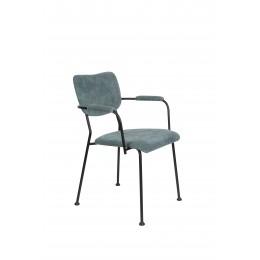 Jídelní židle s područkama BENSON ZUIVER,modrošedá