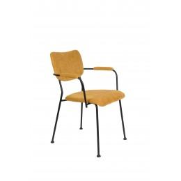 Jídelní židle s područkama BENSON ZUIVER,okrová