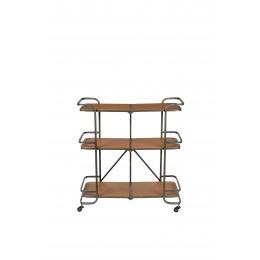 Dřevěná police na kolečkách SIERRA DUTCHBONE 109 cm,přírodní