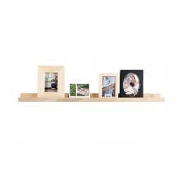 Police na fotorámečky Woood dřevo dub 120 cm,přírodní