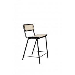 Barová židle JORT ZUIVER 106 cm, černá ratanová