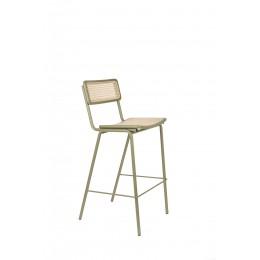 Barová židle JORT ZUIVER 106 cm, zelená ratanová