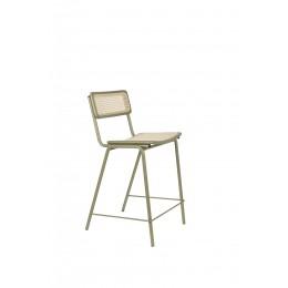Barová židle JORT ZUIVER 93,5 cm, zelená ratanová