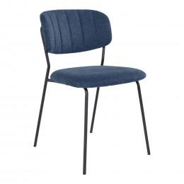 Jídelní židle ALICANTE tmavě šedá, černá podnož