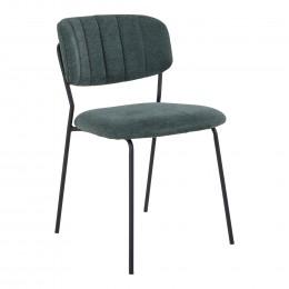 Jídelní židle ALICANTE modrá, černá podnož