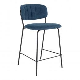 Barová židle ALICANTE tmavě šedá, černá podnož
