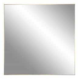 Nástěnné zrcadlo JERSEY čtvercové 60x60 cm, mosazný rám