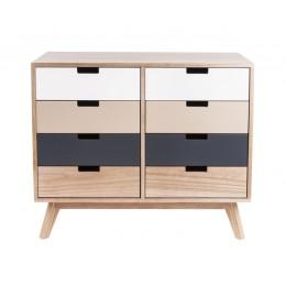 Komoda barevná dřevěná SNAP Present Time se 4 zásuvkami