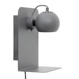 Nástěnná lampa Ball s USB, bílá matt