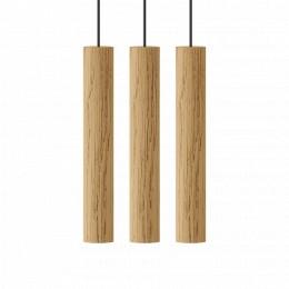 Závěsná lampa CHIMES UMAGE Ø 3,4 cm, přírodní dub