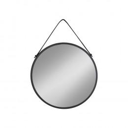 Závěsné zrcadlo TRAPANI HOUSE NORDIC Ø38 cm,černý kov