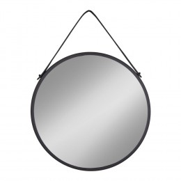 Závěsné zrcadlo TRAPANI HOUSE NORDIC Ø60 cm,černý kov