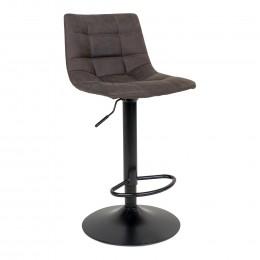 Barová židle MIDDELFART tmavě šedá, černá podnož