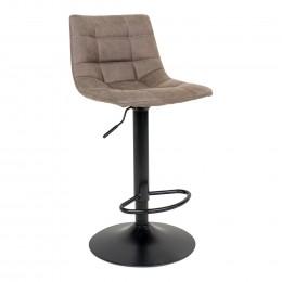 Barová židle MIDDELFART světle hnědá, černá podnož
