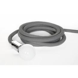 Závěsná lampa LASSO stříbrná stmívatelná, stříbrný kabel