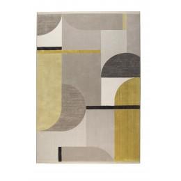 Koberec HILTON ZUIVER 200x290 cm, šedý/žlutý