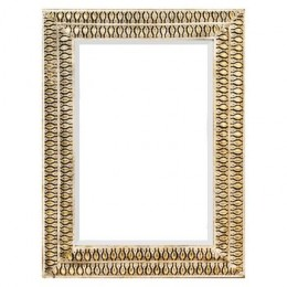 Zrcadlo MARAKÉŠ s tepaným rámem 106x62 cm,zlaté