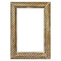 Zrcadlo PAVÍ OKO rám dvě řady 83x63 cm,zlaté
