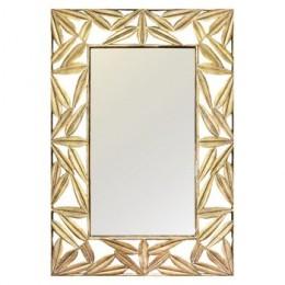 Zrcadlo AGADIR mřížkovaný rám 100x70 cm,zlaté