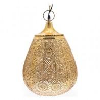 Lustr HIZO s plným vrchem 42 cm tepaný kov, zlatý