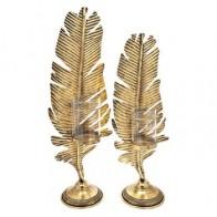 Svícen na čajovou svíčku BRK 62 cm kov, zlatý