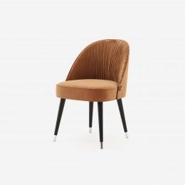 Jídelní židle BINOCHE DOMKAPA 86cm cotton velvet, rubínově červená