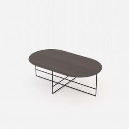 Coffee stolek DOMKAPA Ø40 cm zlatý, černá ocel