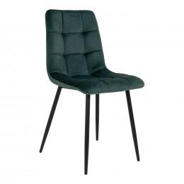Jídelní židle MIDDELFART samet, zelená