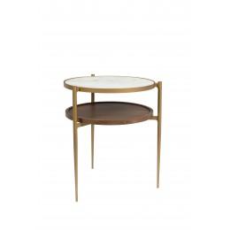 Dřevěný odkládací stolek SIERRA DUTCHBONE Ø 40 cm,přírodní