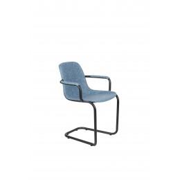 Jídelní židle područkami  THIRSTY ZUIVER, plast světle šedý