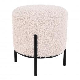 Pohovka GLASGOW House Nordic bílá, umělá ovečka, nohy černé