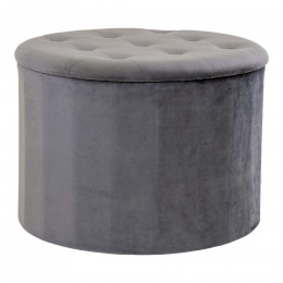 Taburet POUF MELBY HOUSE NORDIC Ø75 cm,samet šedý